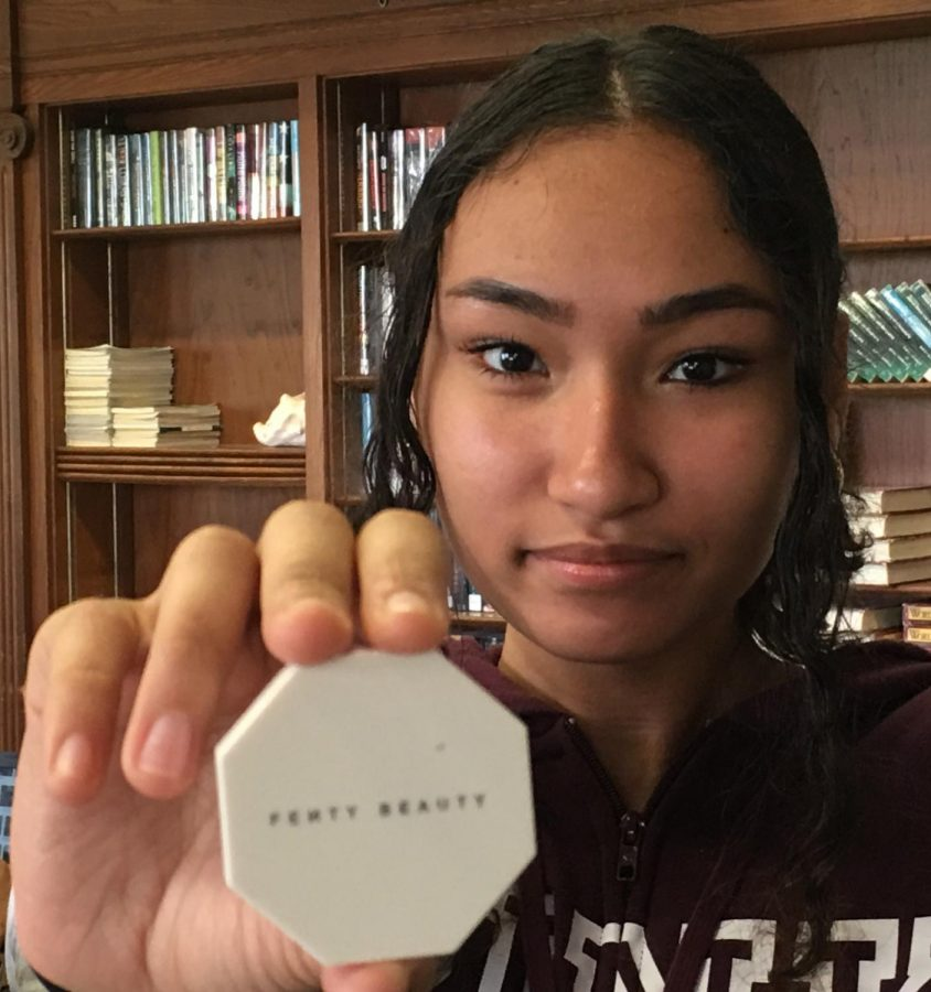 Kaylin Morales, freshman, shows off her Fenty